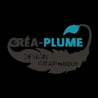 logo créa-plume design graphique print et web
