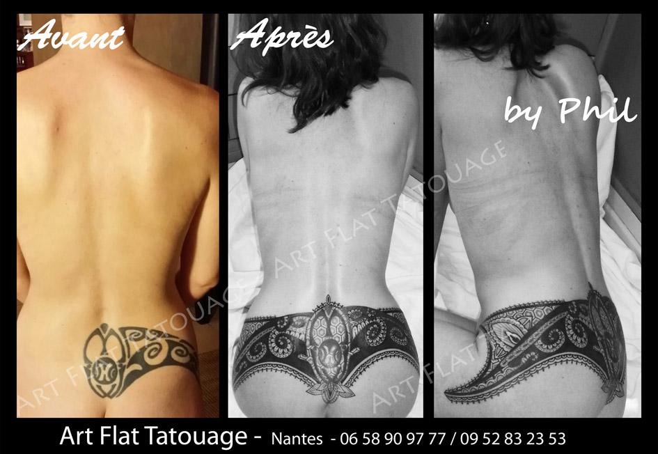 Dentelle Femme Art Flat Tatouage