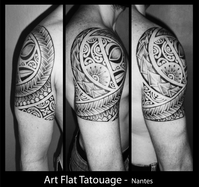 polyn sien homme art flat tatouage. Black Bedroom Furniture Sets. Home Design Ideas