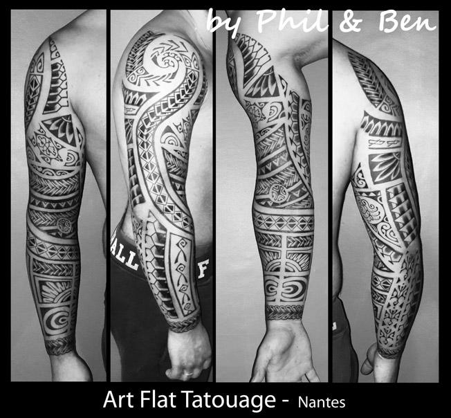 Tribal Tattoos X Tattoo Bras Homme Maori
