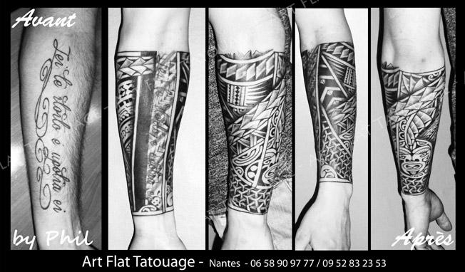 Tatouage d\u0027inspiration samoane. CollageMaker_20180209_182324008